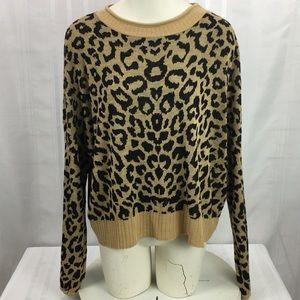 Apt 9 Leopard Print Knit Sweater XXL Long Sleeve